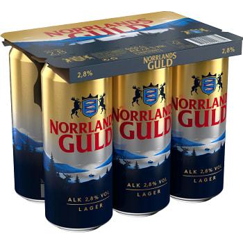 Öl 2,8% 50cl 6-p Norrlands Guld