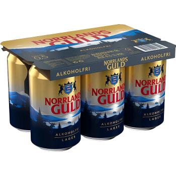 Öl Alkoholfri 33cl 6-p Norrlands Guld