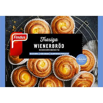 Wienerbröd Gräddade Fryst 10-p 400g Findus