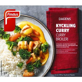 Kycklingfilé curry Måltid Fryst 390g Findus