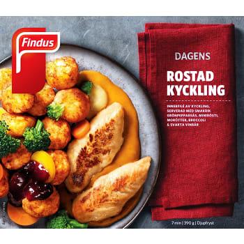 Rostad kycklingfilé Måltid Fryst 390g Findus