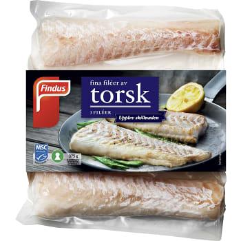 Torskfilé Fryst 375g Findus