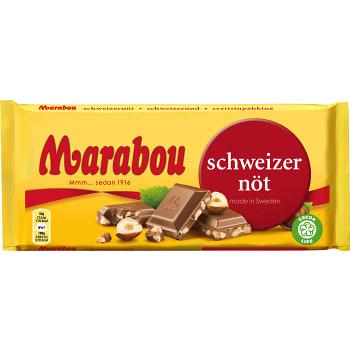 Chokladkaka Schweizernöt 200g Marabou