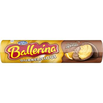 Kaka Dubbel Mjölkchoklad Apelsin 185g Ballerina