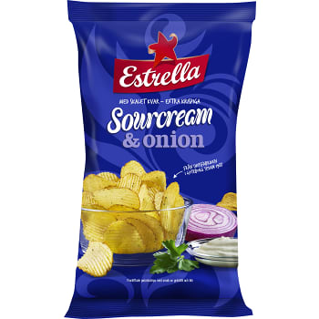 Sourcream & onion Chips 40g Estrella