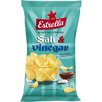 Chips Salt & vinäger 275g Estrella