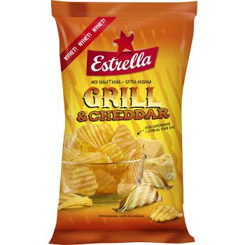 Chips Grill & cheddar 275g Estrella