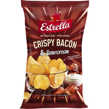 Chips Crispy Bacon Sourcream 275g Estrella