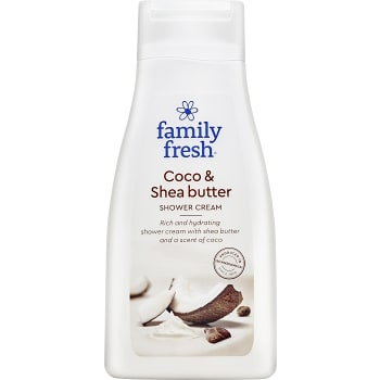 Duschkräm Coco Shea butter 500ml Family fresh
