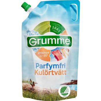 Tvättmedel Flytande Parfymfri Kulörtvätt 800ml Miljömärkt Grumme