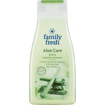 Duschtvål & Schampo Aloe Care 500ml Family Fresh