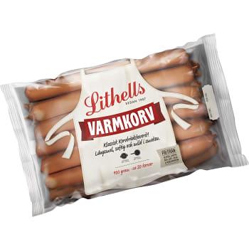 Varmkorv med skinn Glutenfri Laktosfri 900g Lithells