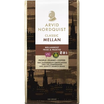 Mellanrost Bryggkaffe 500g Arvid Nordquist Classic