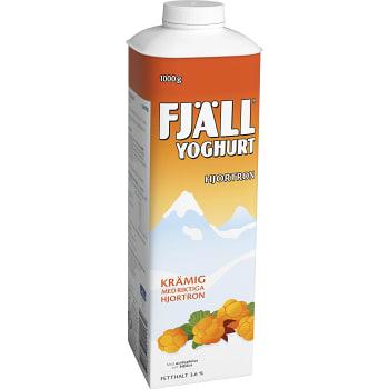Yoghurt Hjortron 3,6% 1000g Fjällyoghurt