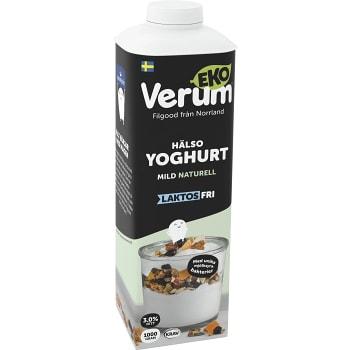 Hälsoyoghurt Mild Naturell Laktosfri 1l KRAV Verum