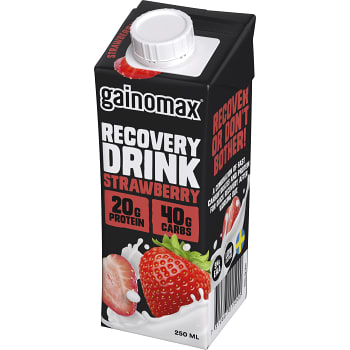 Strawberry Återhämtningsdryck 250ml Gainomax