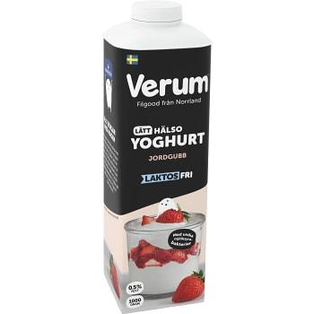 Hälsoyoghurt Jordgubb Laktosfri 0,5% 1000g Verum