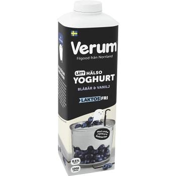 Hälsoyoghurt Blåbär & vanilj Laktosfri 0,5% 1000g Verum