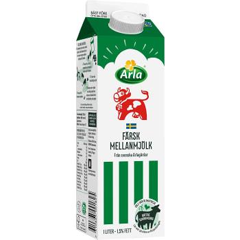 Mellanmjölk 1,5% 1l Arla Ko