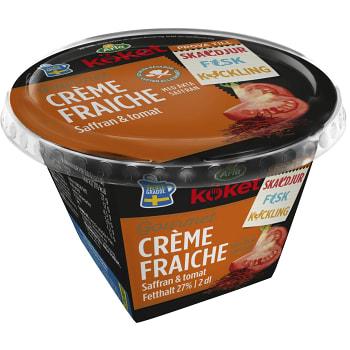 Crème fraiche Gourmet Saffran & tomat 29% 2dl Arla Köket