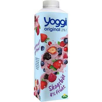 Yoghurt Original Skogsbär 2% 1000g Yoggi