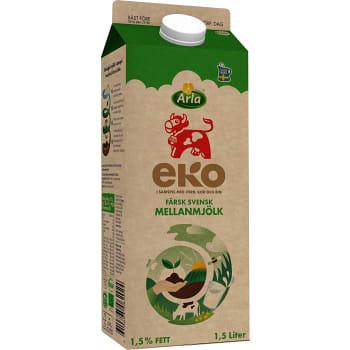 Mellanmjölk 1,5% 1,5l KRAV Arla Ko