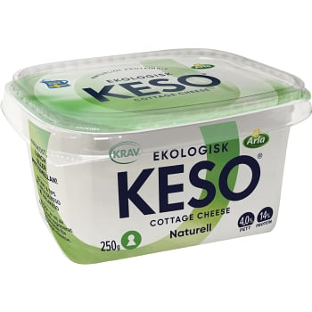 Cottage cheese Naturell 4% 250g KRAV Keso