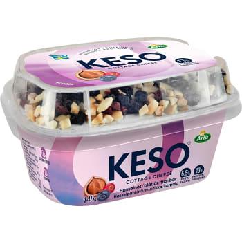 Mellanmål Hasselnötter blåbär & tranbär 150g Keso