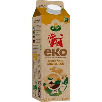 Minimjölk 0,1% 1l KRAV Arla Ko