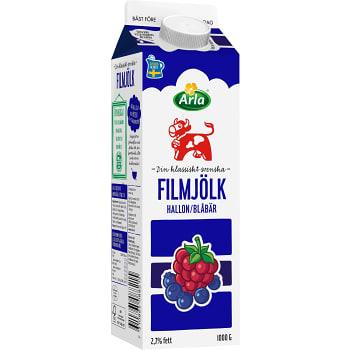 Filmjölk Blåbär & hallon 2,7% 1kg Arla Ko