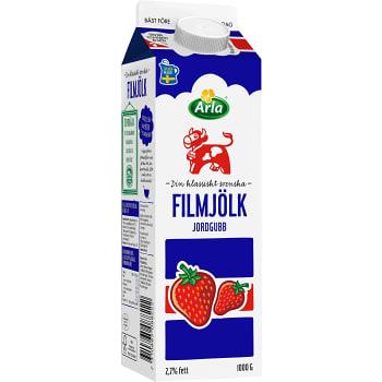 Filmjölk Jordgubb 2,7% 1kg Arla Ko
