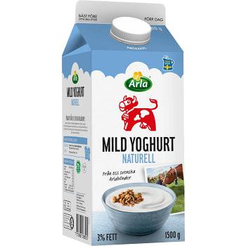 Yoghurt Mild Naturell 3% 1,5l Arla Ko