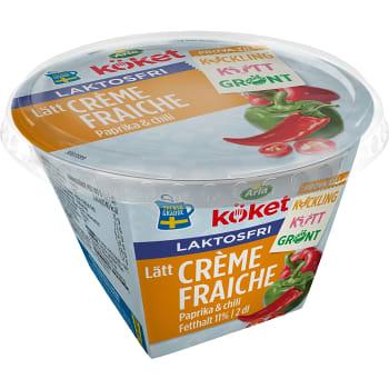 Crème Fraiche Lätt Laktosfri 13% Paprika & chili 2dl Arla Köket