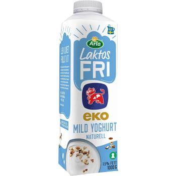 Yoghurt mild naturell Laktosfri 1,5% Ekologisk 1L Arla Ko