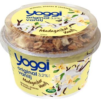 Vanilyoghurt Granola ananas & mörk choklad 190g Yoggi