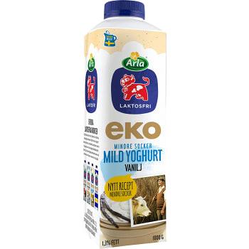Yoghurt Mild Laktosfri Vanilj 1,4% Ekologisk 1000g Arla