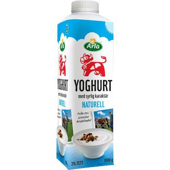 Yoghurt Naturell 3% 1000g  Arla