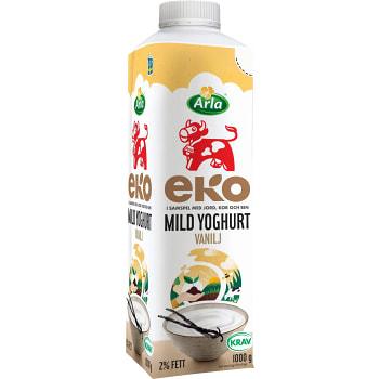 Mild yoghurt Vanilj Ekologisk 2% 1000g Arla