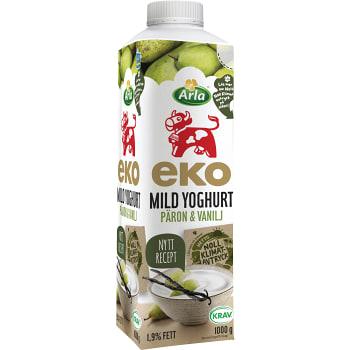 Mild yoghurt Päron & vanilj Ekologisk 1,9% 1000g Arla
