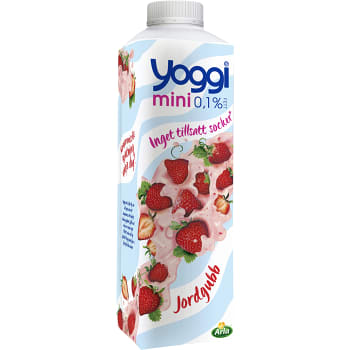 Yoghurt Mini Jordgubb 0,1% 1kg Yoggi