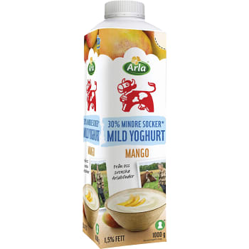 Mild Yoghurt Mango Mindre Socker 1,5%   Ko