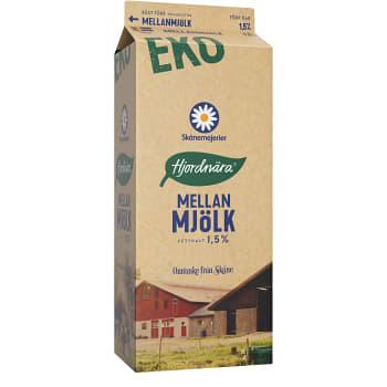 Mellanmjölk 1,5% 1,5l KRAV Skånemejerier