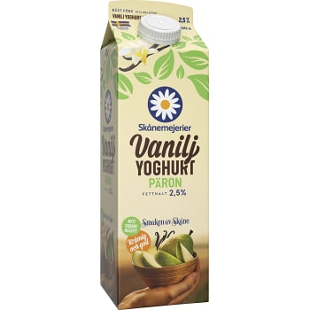 Vaniljyoghurt Päron 2,5% 1000g Skånemejerier