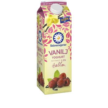Vaniljyoghurt Hallon 2,5% 1000g Skånemejerier