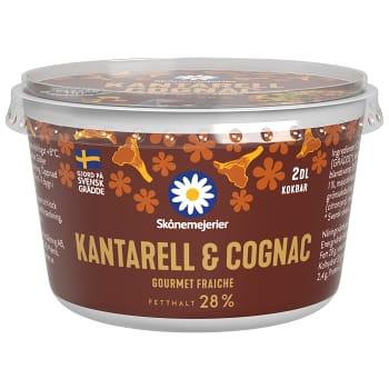 Crème fraiche Gourmet Kantarell & cognac 28% 2dl Skånemejerier