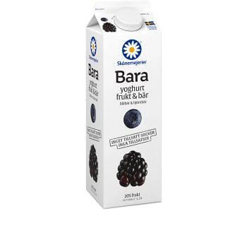 Yoghurt Bara Frukt & bär Blåbär & björnbär 1kg Skånemejerier