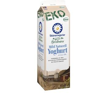 Yoghurt Mild Naturell 3% 1000g KRAV Skåne Hjordnära