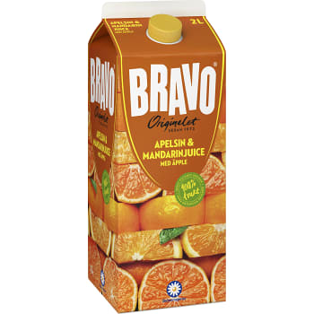Apelsin äpple & mandarinjuice 2l Bravo