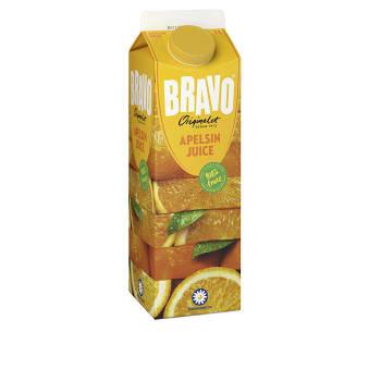 Apelsinjuice 1l Miljömärkt Bravo