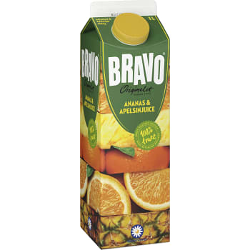 Ananas & apelsinjuice Miljömärkt 1l Bravo